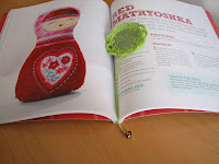 marcapáginas de tela/fabric bookmark