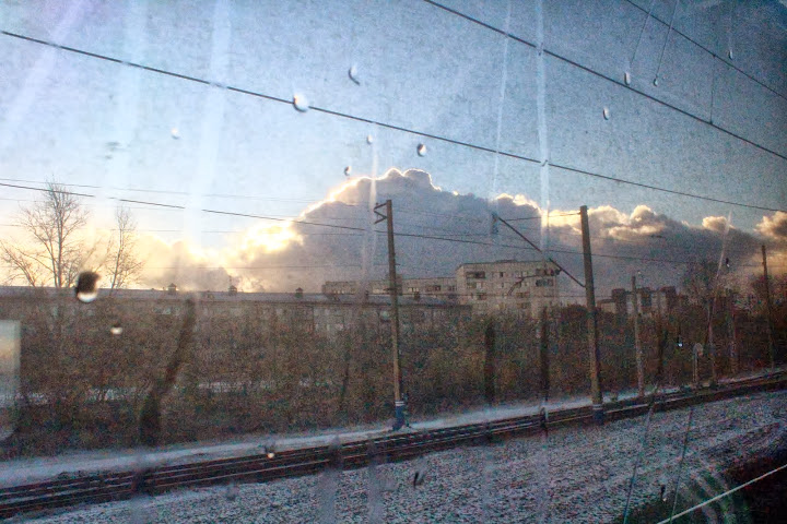 Russia Snowing Trans Siberian station weather