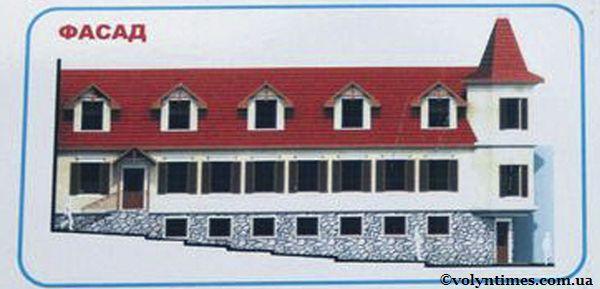 Фасад будинку згідно проекту