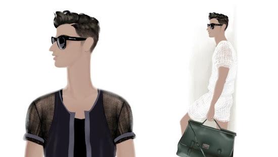 Adrian Valencia Fashion Illustrations Male Model