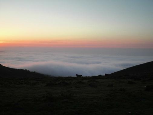tránsito - mar de nubes