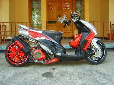gambar modifikasi motor suzuki shogun