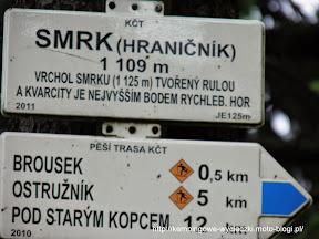 szczyt Smrk (Smrek Trójkrajny )1109 m n.p.m.