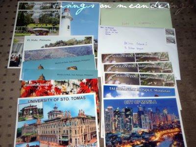 postcards, mailday