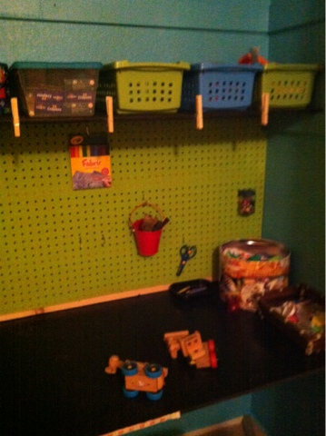 pegboard, craft room
