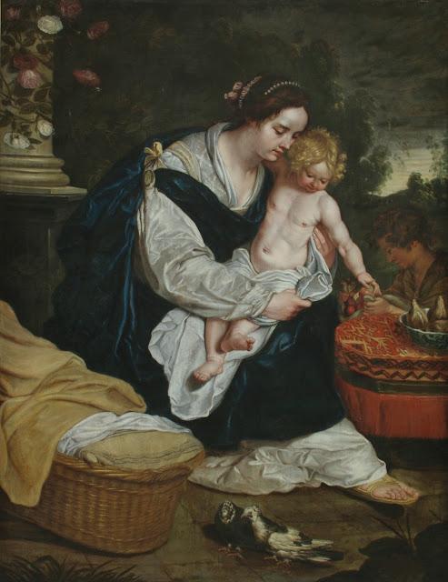 Abraham Janssens - La Virgen y el Niño con San Juan Bautista