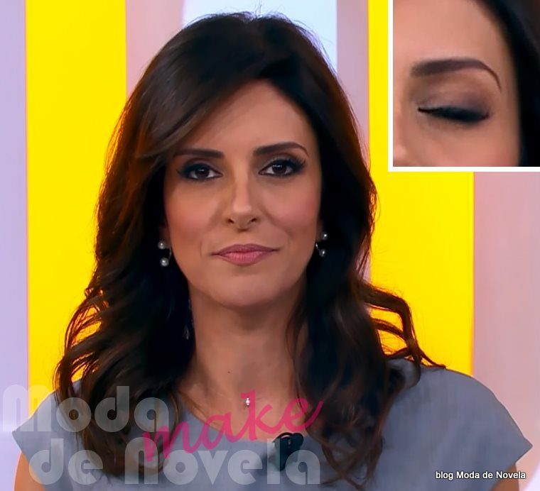 moda do programa Hora 1, maquiagem da Monalisa Perrone dia 1º de dezembro de 2014