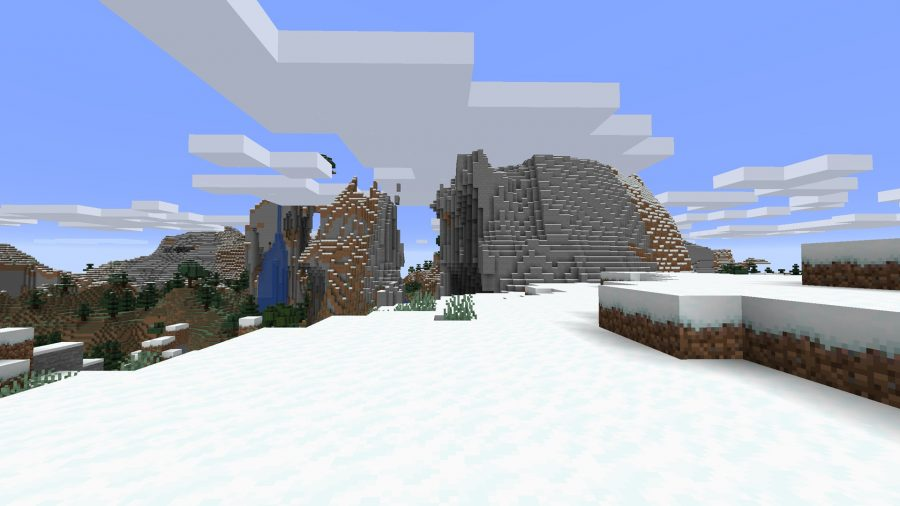 minecraft igloo and winter forest