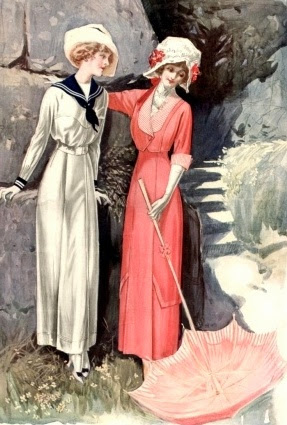 Daytime dresses for women 1914-1919