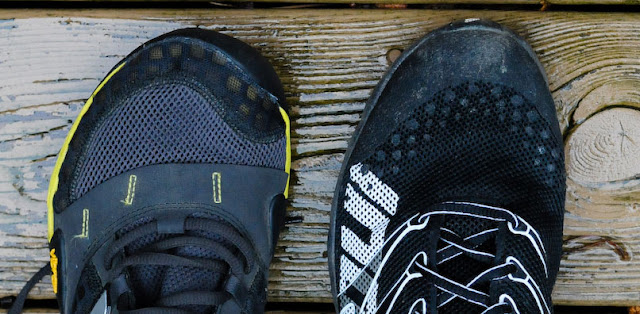 toe box comparison of the f-lite 230 and the Minimus Trail