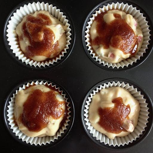 knusprige Rhabarbermuffins