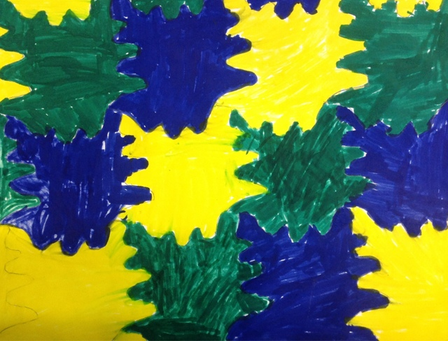 Fifth Grade Students Created These Tessellating Shapes Using An Index Card And Colored The In With Analogous Color Scheme