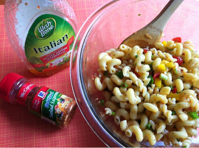 Pasta Salad, Wish Bone Italian, Salad Supreme
