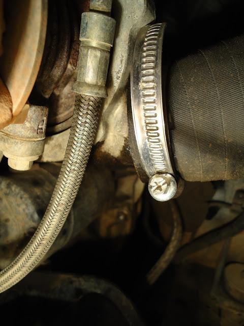 300tdi oil leak on turbo hose at clamp