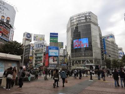 渋谷Qフロントのある、スクランブル交差点