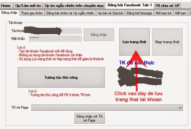 Lưu trạng thái tài khoản facebook seeding