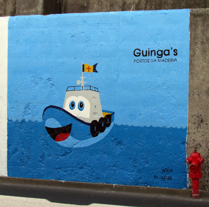 Guinga's painting in Funchal port