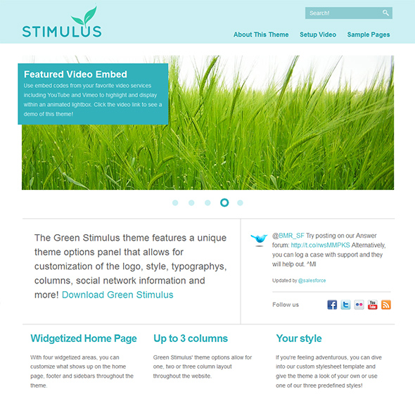 Green Stimulus Organic and Eco Friendly WordPress Theme