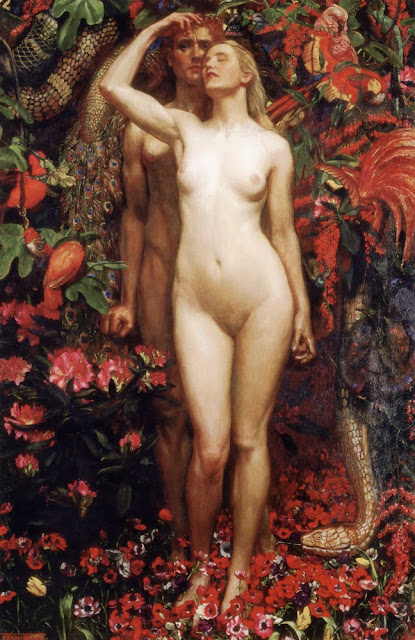 Byam Shaw - The Woman, the Man and the Serpent