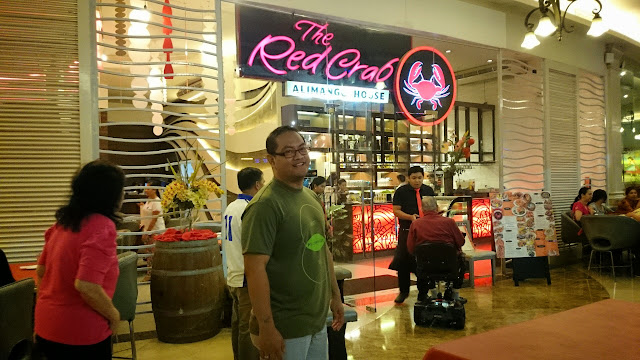 Carlo Andrew Olano at The Red Crab Alimango House in Newport Mall