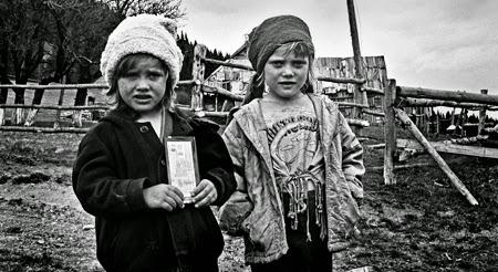 Ukraina Karpaty Wschodnie dzieci