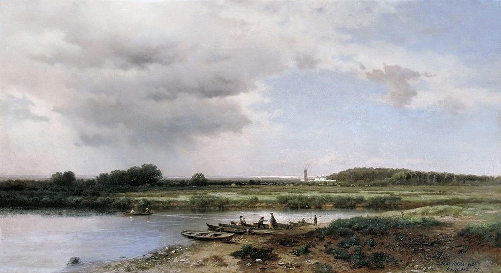 Lev Kamenev - Kazank River, 1875.