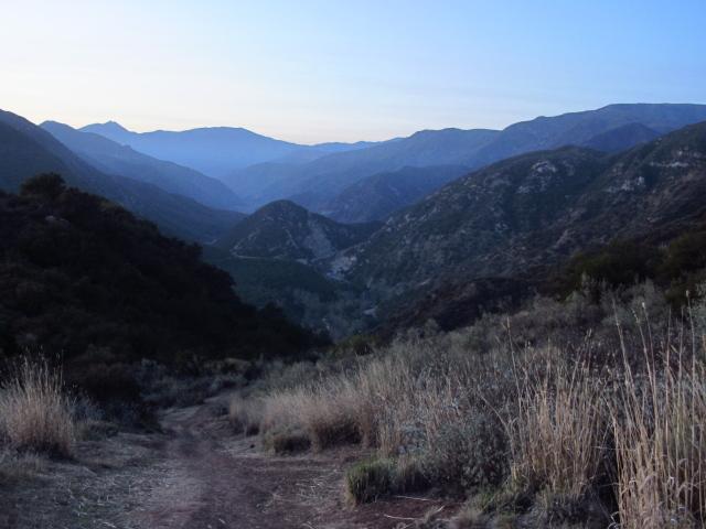 Wheeler Gorge in the gathering dusk