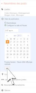 Modifier la date de publication de l'article dans l'éditeur d'articles
