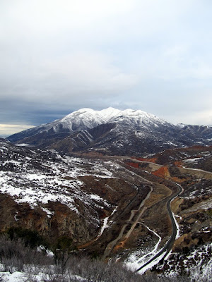 Spanish Fork Canyon and Spanish Fork Peak viewed from the benchmark