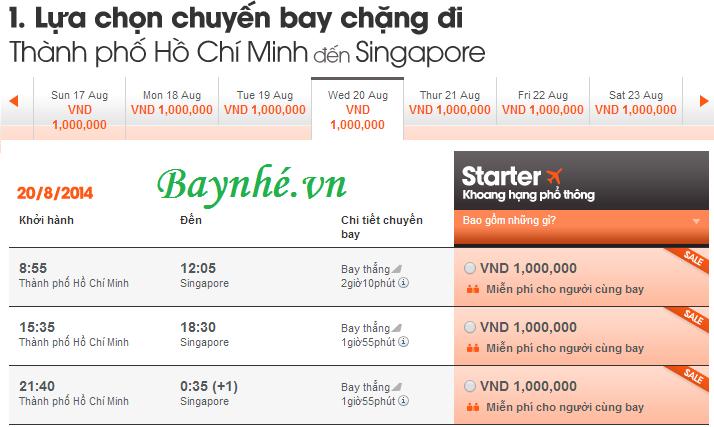 Vé máy bay mua 1 tặng 1 đi Singapore của Jetstar (Đã có vé)
