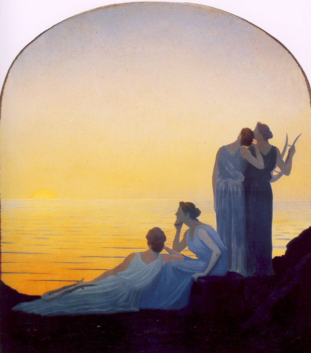 Alphonse Osbert - Evening in Antiquity