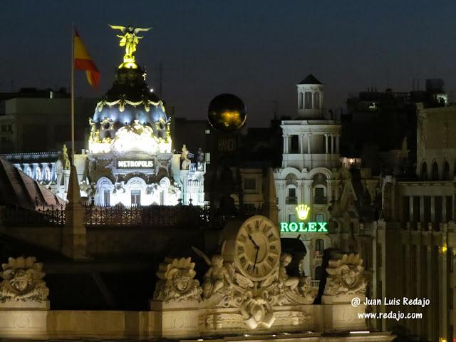 Madrid de noche desde la terraza de cibeles for Terrazas nocturnas madrid