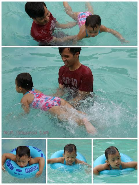 Berenang bersama anak balita