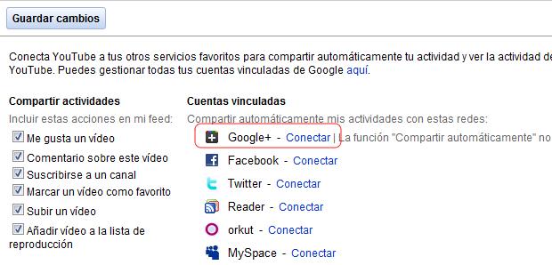 youtube opciones para compartir
