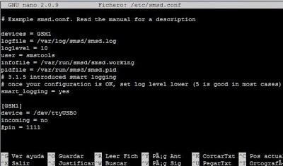 Instalar y configurar paquete gratuito SMSTOOLS SMS Server Tools en Linux CentOS para envío de SMS