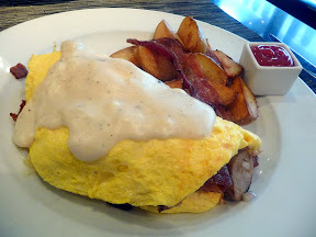 Boka Seattle's  Breakfast of a Lumberjack omelette