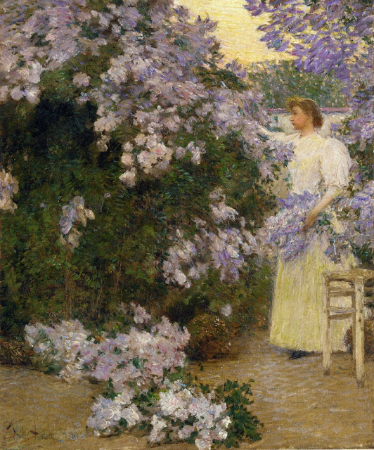 Childe Hassam - Mrs Hassam in the Garden