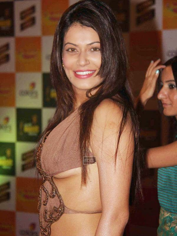 Payal Rohatgi flashed her bombs as she wore a backless gown while attending the Mirchi Music Awards in Mumbai.