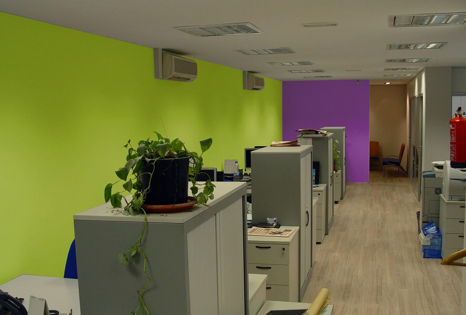 Luis n reforma de las oficinas de acceso group 2009 - Paredes verde pistacho ...