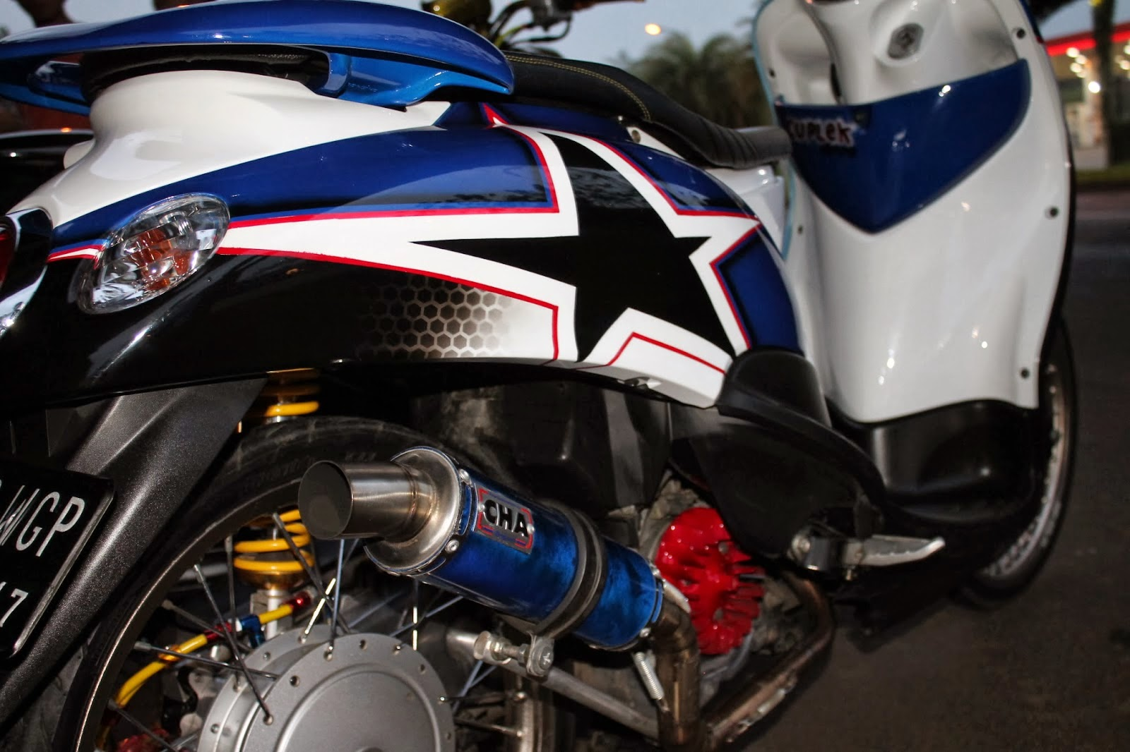 Modifikasi Yamaha Fino Classic