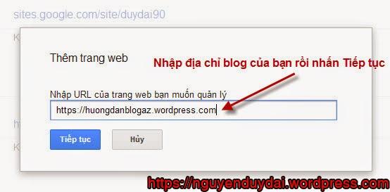Hướng dẫn tích hợp Google Webmaster Tool vào Blog WordPress