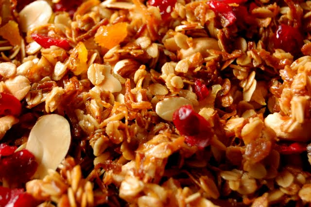 Homemade granola closeup
