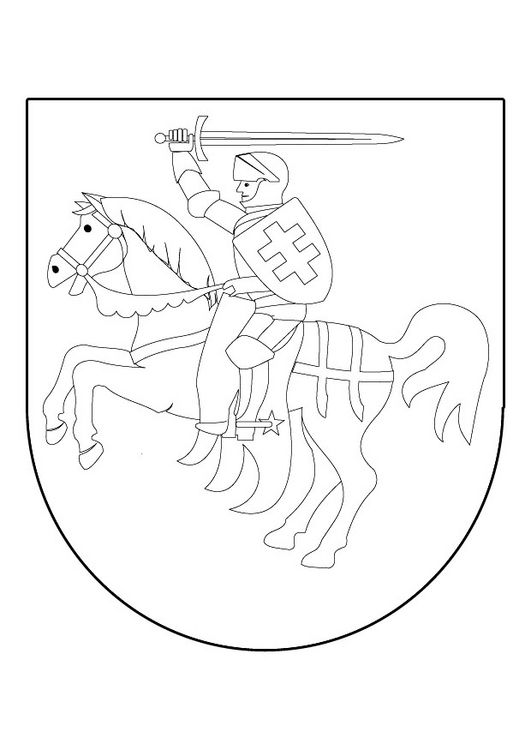 Coat of arms of a knight coloring pages