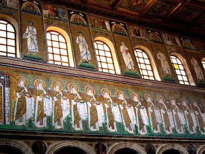 Mosaics in Basilica di Sant' Apollinare Nuovo in Ravenna Italy