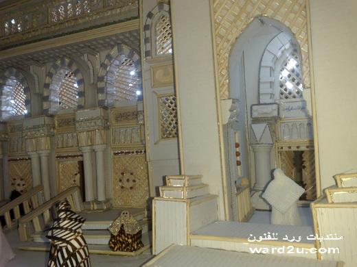 المسجد النبوى مجسم من الكرتون
