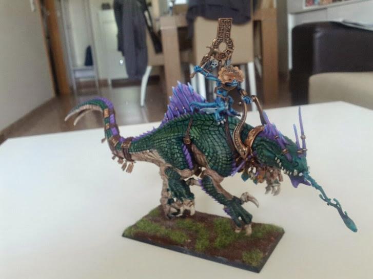 Troglodón,Hombres Lagarto, lizardmen, warhammer, fantasy, paint, pintado