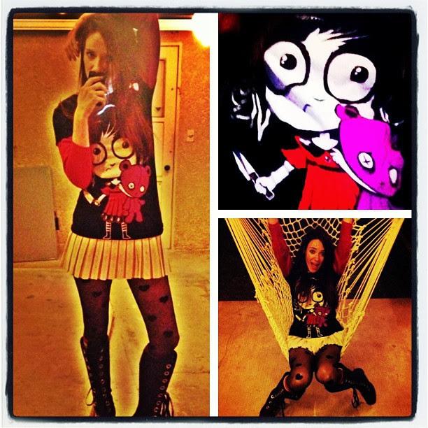 akumu ink, cute evil girl tshirt, emo tshirt, visual kei tshirt, alt style tshirt, comiccon tshirt,