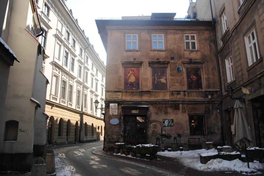 la calle de la Ciudad Vieja de Cracovia