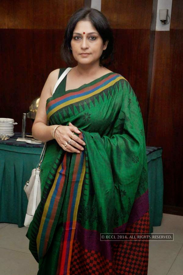 Roopa Ganguly during the press meet of Bengali Film Punascha, held at Princeton Club.