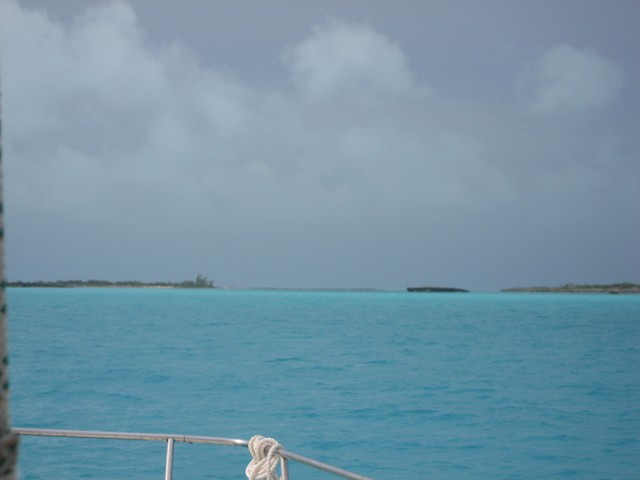 Hog Cay Cut into Jumentos as seen from Sound-side